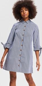Sukienka Reserved mini z długim rękawem szmizjerka