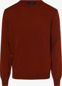 Pomarańczowy sweter Andrew James w stylu casual