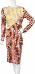 Sukienka House Of Holland midi z długim rękawem