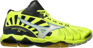 Zielone buty sportowe Mizuno w sportowym stylu sznurowane