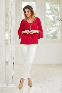 Czerwona bluzka La'Aurora