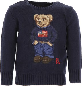 Granatowy sweter Ralph Lauren z bawełny