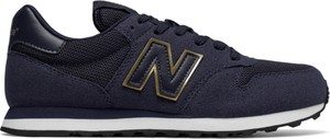 Niebieskie buty sportowe New Balance z zamszu