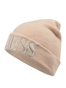 Różowa czapka Guess