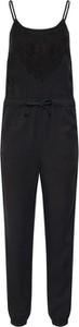 Czarny kombinezon Superdry z długimi nogawkami z bawełny w stylu boho