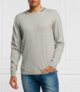 Sweter Guess w stylu casual z okrągłym dekoltem z wełny