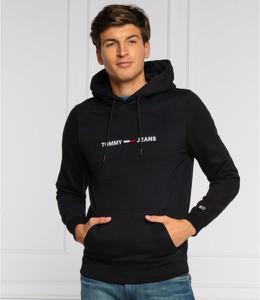 Czarna bluza Tommy Jeans z bawełny w młodzieżowym stylu