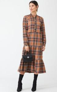 Sukienka V by Very midi koszulowa w stylu casual