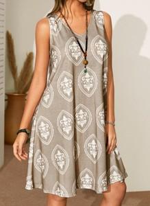 Sukienka Cikelly na ramiączkach z dekoltem w kształcie litery v mini
