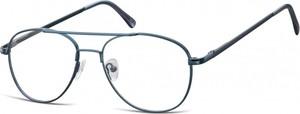 Sunoptic Okulary oprawki dziecięce zerówki Pilotki MK3-47C ciemno-niebieskie