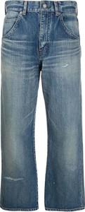 Niebieskie spodnie SAINT LAURENT z bawełny w stylu retro
