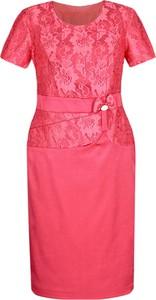 Sukienka Fokus z krótkim rękawem ołówkowa