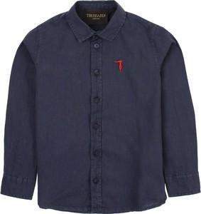 Granatowa koszula dziecięca Trussardi