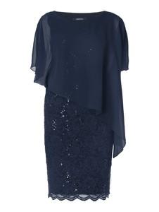 Sukienka Swing w stylu glamour z dekoltem w łódkę midi