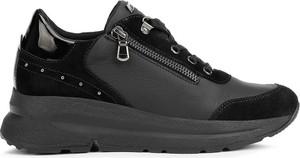 Buty sportowe Geox ze skóry ekologicznej sznurowane