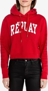 Bluza Replay z bawełny krótka