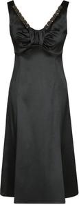 Czarna sukienka Fokus z satyny
