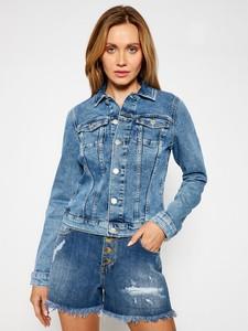 Tommy Jeans Kurtka jeansowa Vivianne Denim Trucker DW0DW10074 Granatowy Slim Fit
