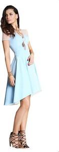 Sukienka Camill Fashion mini z krótkim rękawem rozkloszowana