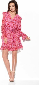 Sukienka Lemoniade wyszczuplająca z długim rękawem z jedwabiu