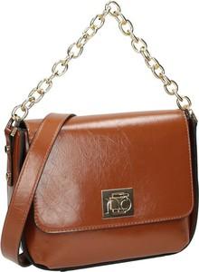 Brązowa torebka NOBO w stylu glamour średnia