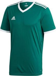 Zielona koszulka dziecięca Adidas dla chłopców z krótkim rękawem z dżerseju