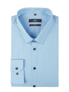 Niebieska koszula Jake*s z bawełny z klasycznym kołnierzykiem