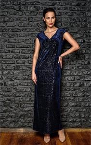 Sukienka Kaskada z krótkim rękawem maxi