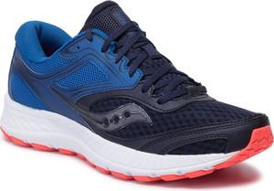 Niebieskie buty sportowe Saucony sznurowane