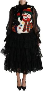 Sukienka Dolce & Gabbana z bawełny midi