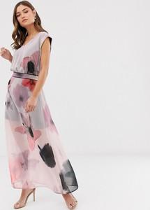Sukienka Religion z dekoltem w kształcie litery v maxi