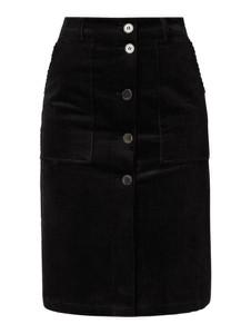 Czarna spódnica Selected Femme midi ze sztruksu