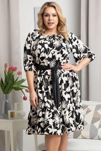 Sukienka KARKO z tkaniny mini dla puszystych