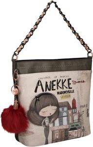 Torebka Anekke średnia z nadrukiem w młodzieżowym stylu