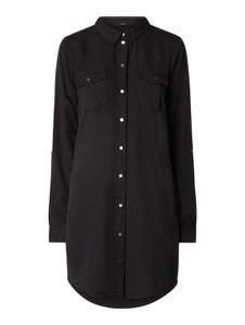 Czarna sukienka Vero Moda koszulowa z długim rękawem