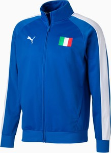 Niebieska kurtka Puma z dresówki w sportowym stylu