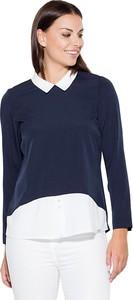 Bluzka Katrus z dekoltem w kształcie litery v z długim rękawem