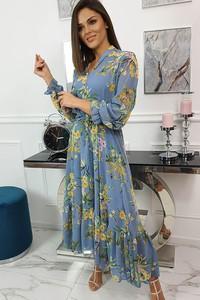 Niebieska sukienka fashion-freak.pl w stylu boho maxi