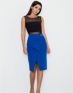 Niebieska spódnica Figl