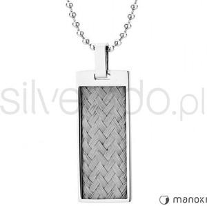 Silverado minimalistyczny naszyjnik z przeplatanymi stalowymi linkami 77-wa240