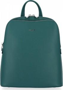 Zielony plecak David Jones ze skóry ekologicznej