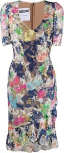 Sukienka Moschino z krótkim rękawem