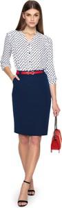 Niebieska spódnica L'AF midi z tkaniny