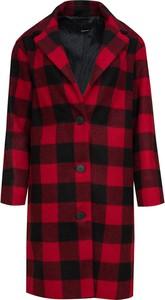 Czerwony płaszcz By Insomnia z wełny w stylu casual