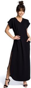 Sukienka Be z bawełny maxi z krótkim rękawem
