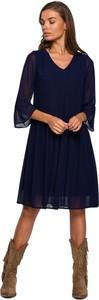 Sukienka Style z szyfonu z długim rękawem mini
