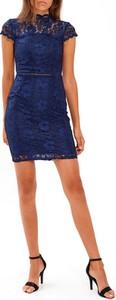 Sukienka Gate ołówkowa z krótkim rękawem mini