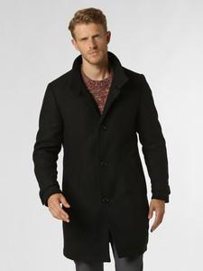 Czarny płaszcz męski Drykorn z wełny