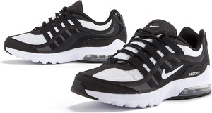 Czarne buty sportowe Nike sznurowane z zamszu z płaską podeszwą