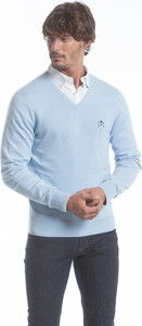 Niebieski sweter Polo Club C.h.a